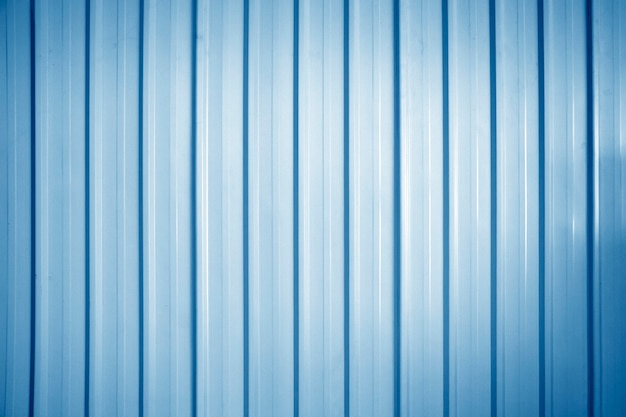Blue zinc wall background, zinc metal sheets texture background.
