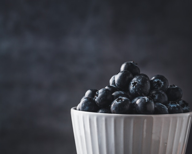Blueberries in bowl, close-up