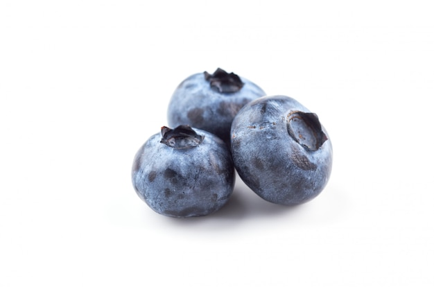 Blueberries on white isolated