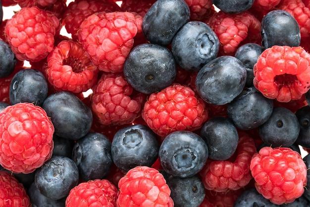 블루 베리와 라즈베리 과일
