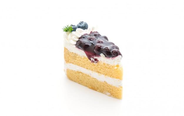 Blueberry cake isolated
