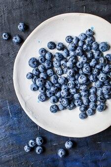 Blueberry dessert sweet ripe fresh berries harvest fportion serving