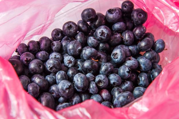 プラスチック購入パッケージのブルーベリーフルーツ
