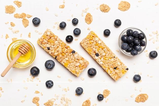 Snack al mirtillo e miele