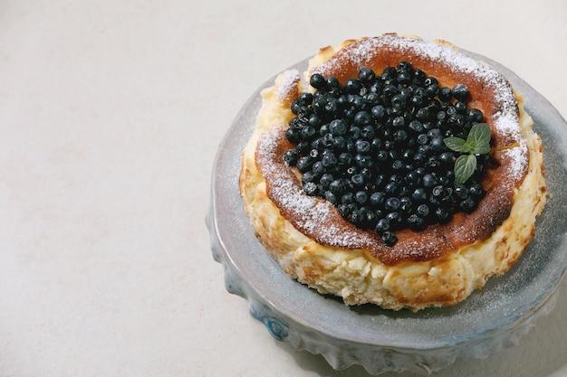 ブルーベリーソフトチーズケーキ