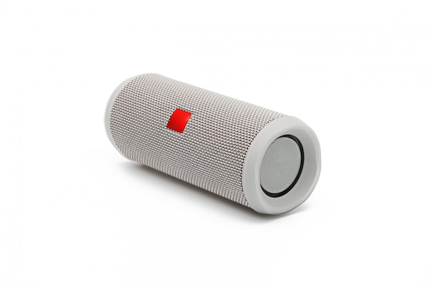 Bluetooth speaker for smartphone on white background