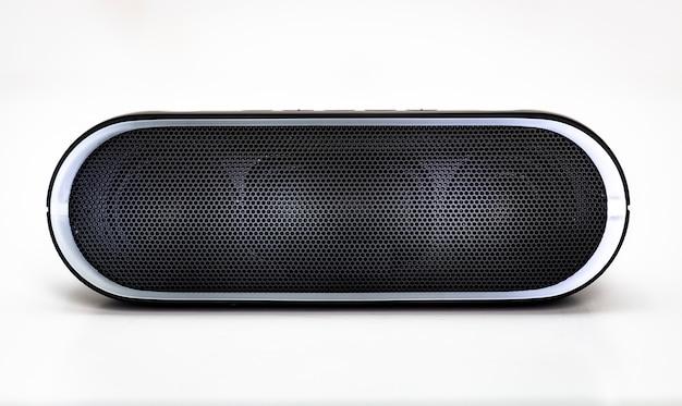 Черный динамик bluetooth с подсветкой