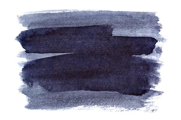 푸르스름한 브러시 스트로크 흰색 배경에 고립입니다. 디자인 요소 및 텍스트 공간