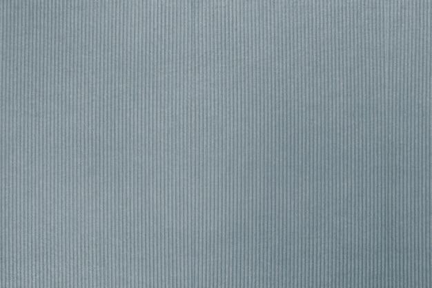 Tessuto di velluto a coste grigio bluastro testurizzato