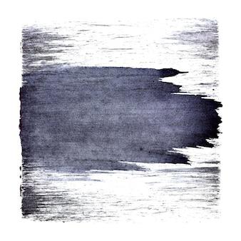 Голубоватый квадрат с выразительным мазком кисти. абстрактный фон. место для вашего собственного текста