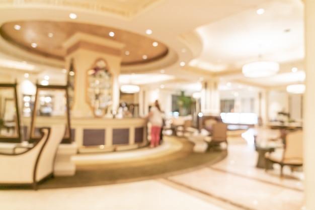 흐릿하고 초점이 흐려진 고급 호텔 로비
