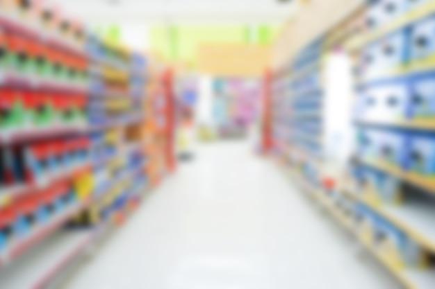Размытие и расфокусированный супермаркет для фона