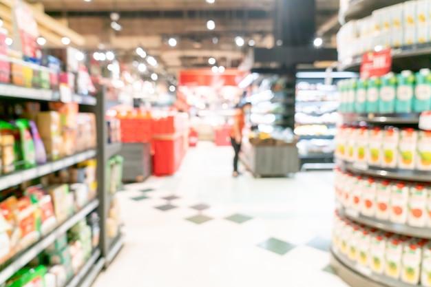 흐림 및 초점이 흐려진 슈퍼마켓