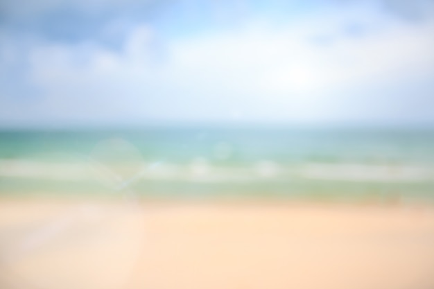 Blur background beach and sea, abstract background concept summer for your design