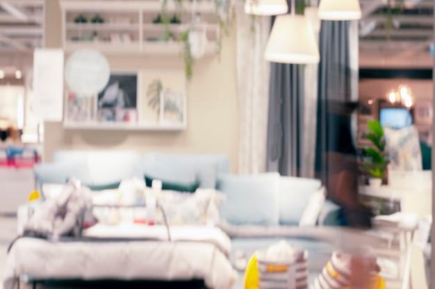 Размытие фона. дисплей украшения домашней мебели.