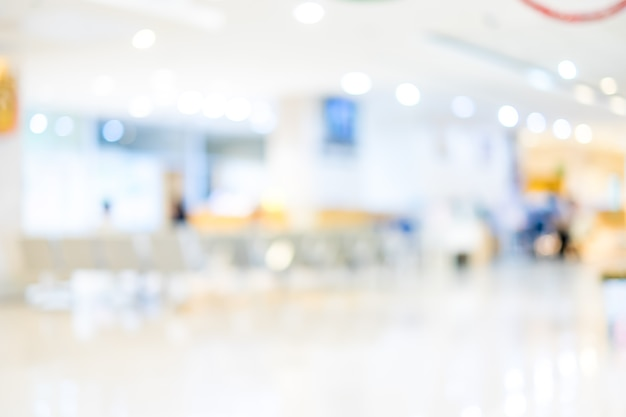 배경 흐림 : 병원에서 대기 의사를 기다리는 환자, 추상적 인 배경