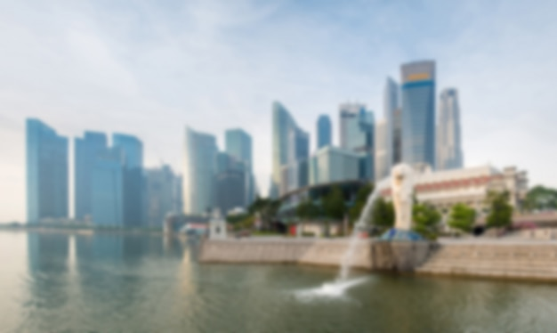 Blur background : singapore landmark