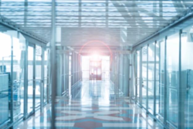 Blur background of walkway perspective