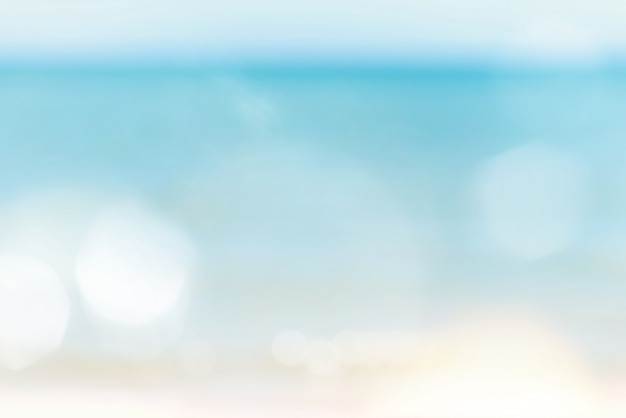 Blur bokeh abstract sea and sky nature background with copy space.