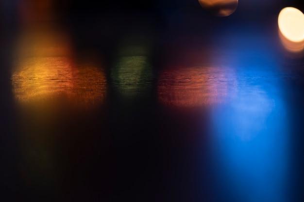 Blur bokeh background of city night light .