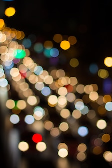 Blur car light and traffic in the city for abstract background