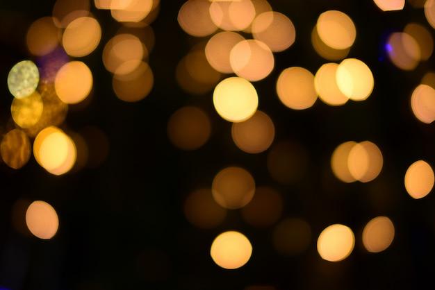 Blur of christmas wallpaper decorations concept.christmas light night
