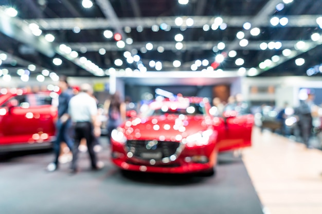 Blur and defocused car and motor exhibition show event