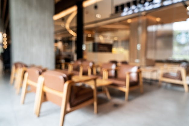 Blur and defocused in coffee shop cafe and restaurant