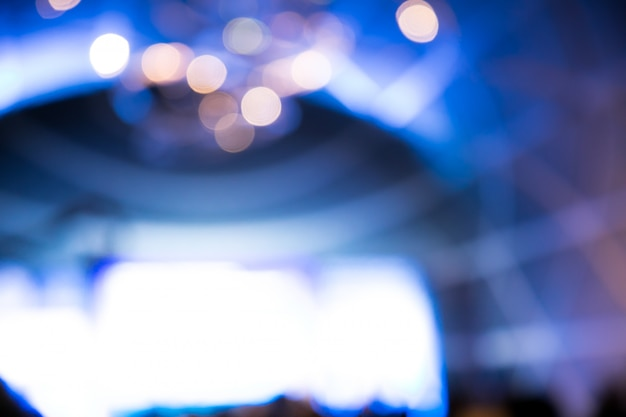 Blur lights of bokeh on stage, abstract image of concert lighting