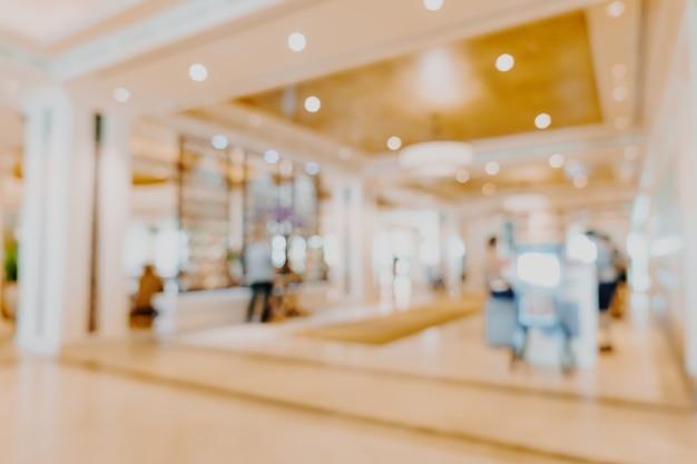 Blur luxury hotel lobby