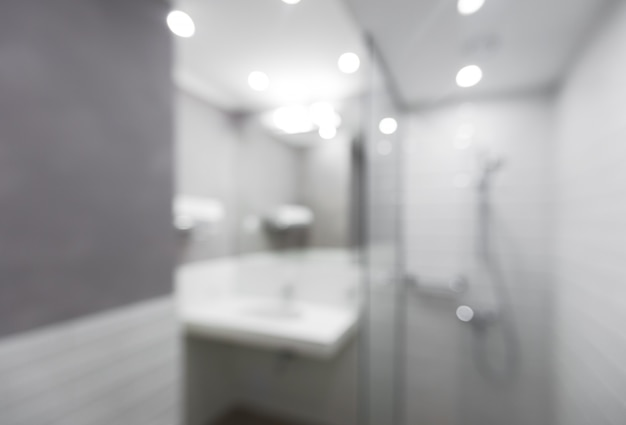 Blur modern bathroom at home