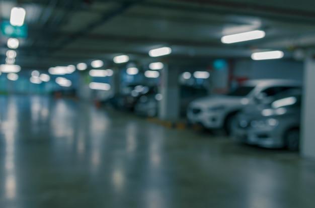 Blur parking lot
