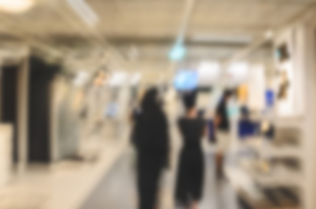 Blur people walking shopping mall