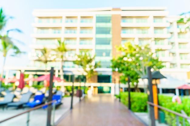 Blur pool hotel resort