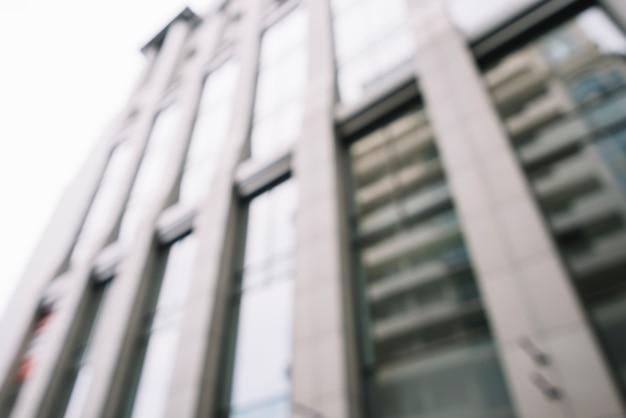 Blur of shiny modern building
