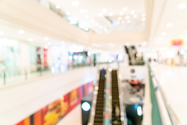 Blur shops and retail stores in shopping mall