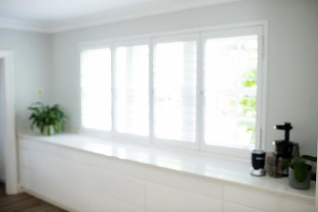 Blur view of kitchen worktop