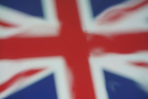 디자인 배경에 대한 영국 국기의 흐림 물방울