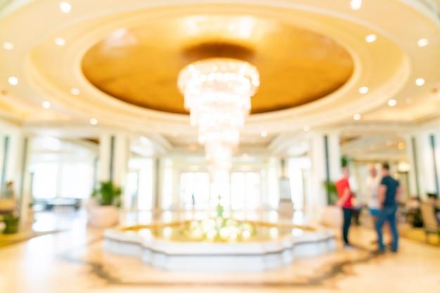 Blur лобби роскошного отеля