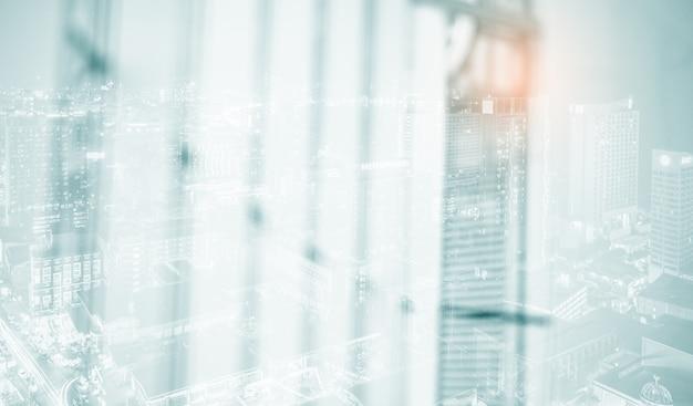 Белый размытый абстрактный фон blur современного строительного интерьера
