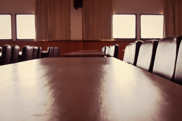 Blured conference room