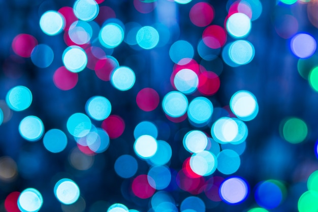 多色の光がボケのテクスチャ。クリスマスライトblured