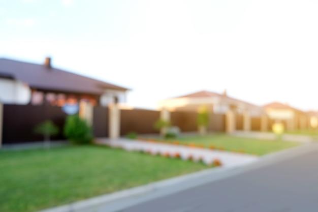 Размытый абстрактный фон дома на летнем доме внешняя тема творческий абстрактный размытие обратно