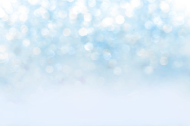 Blurred abstract blue bokeh background