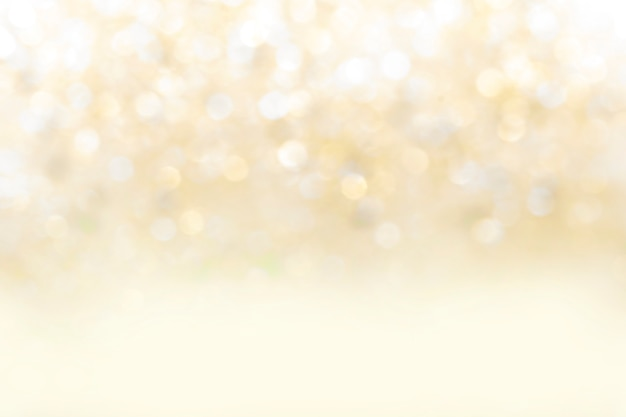 Blurred abstract yellow bokeh background