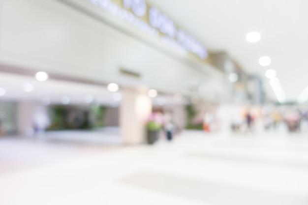 Blurred airport corridor