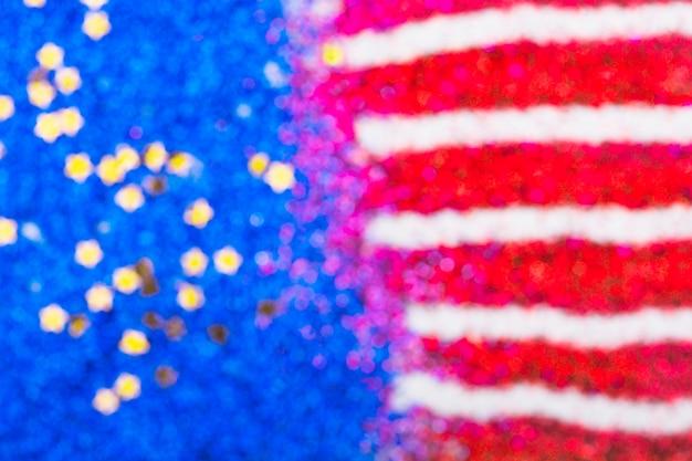 Blurred american flag of confetti