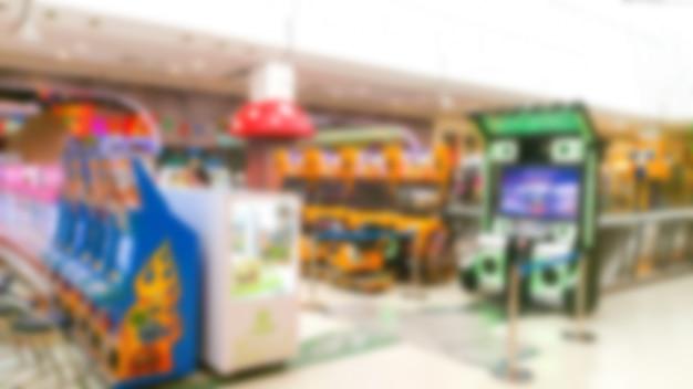 Blurred background of arcade
