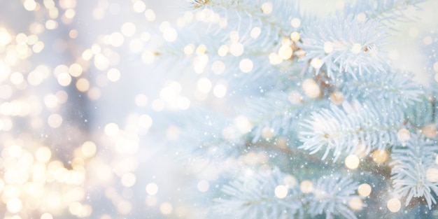 Blurred background. christmas and new year holidays background .