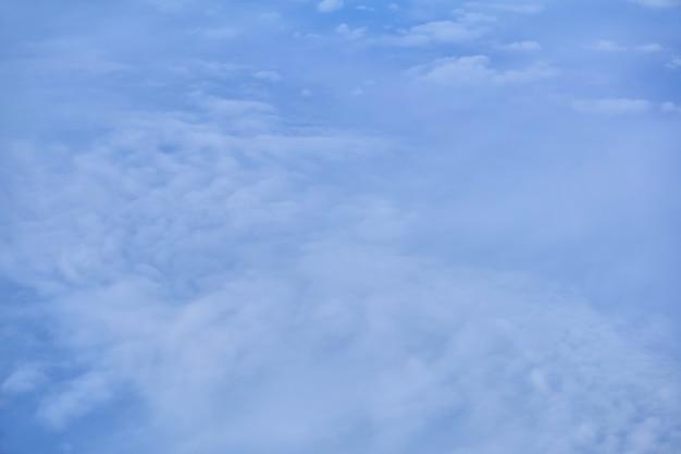 ぼやけた背景、cloudscape-雲、上面図、飛行機または宇宙から